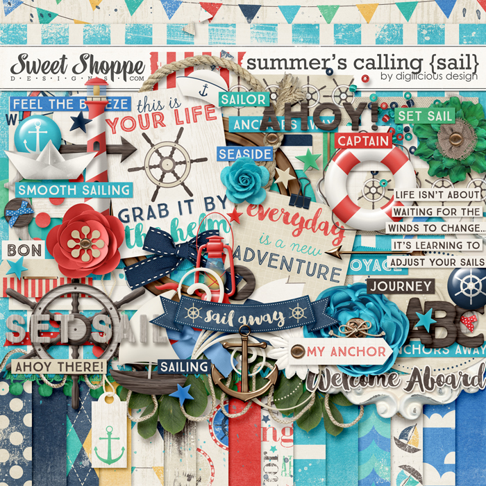 Summer's Calling {Sail} by Digilicious Design