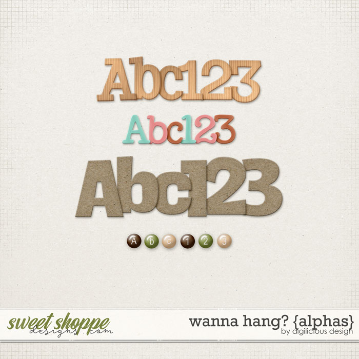 Wanna Hang? {Alphas} by Digilicious Design