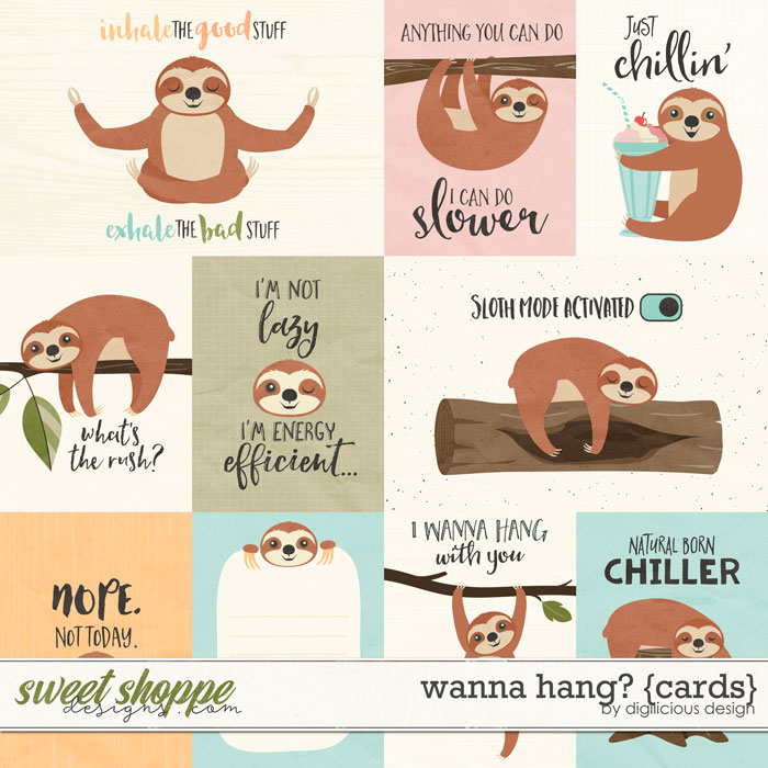 Wanna Hang? {Cards} by Digilicious Design