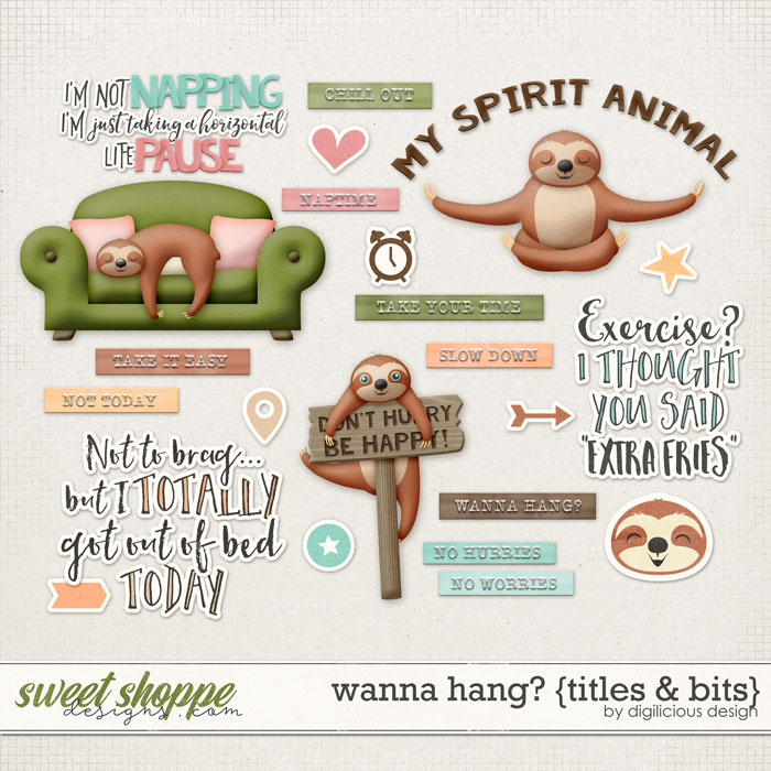 Wanna Hang? {Titles & Bits} by Digilicious Design