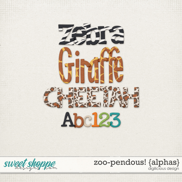 Zoo-pendous! {Alphas} by Digilicious Design