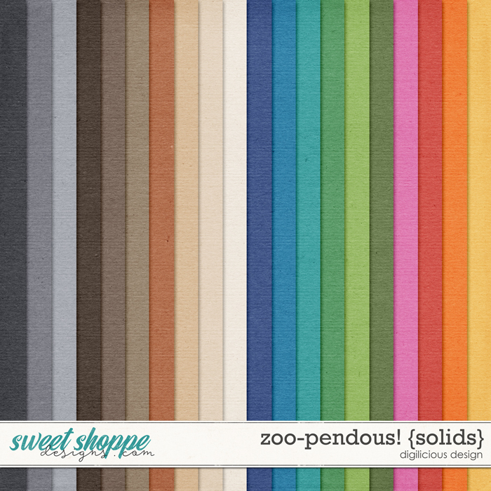 Zoo-pendous! {Solids} by Digilicious Design