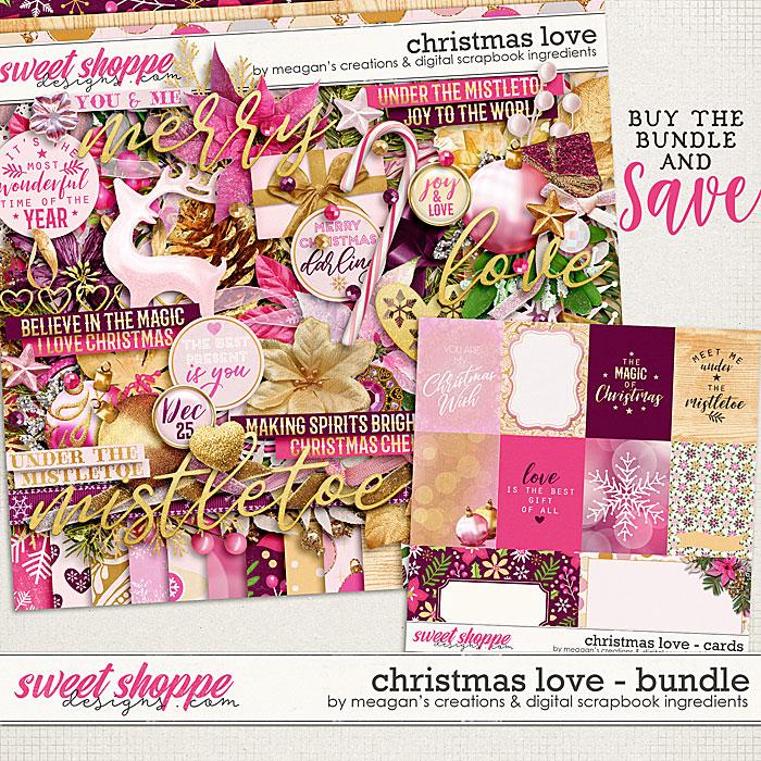 Christmas Love:Bundle by Digital Scrapbook Ingredients and Meagan's Creations