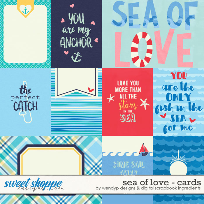 Sea of love - cards by Digital Scrapbook Ingredients and WendyP Designs