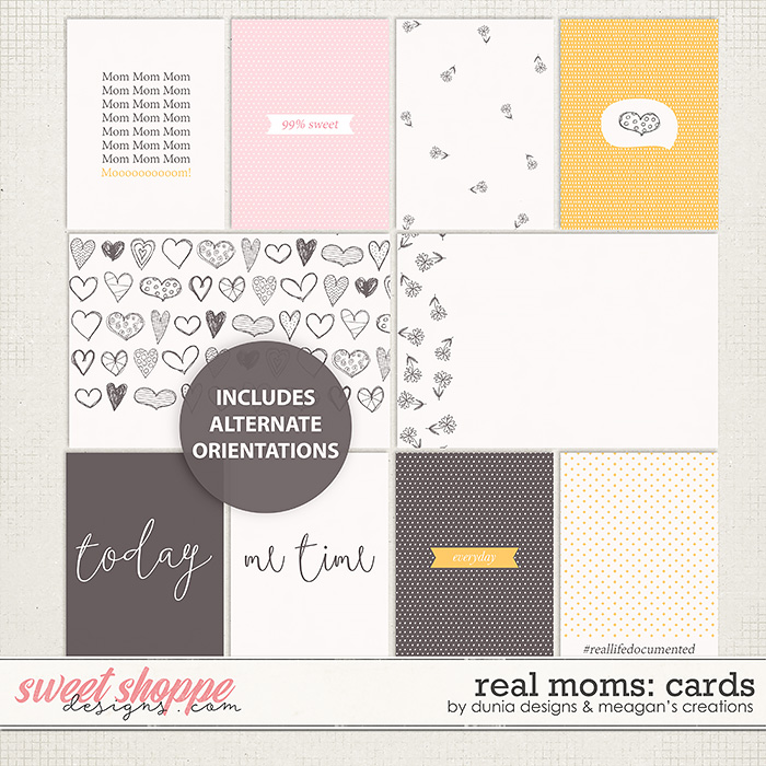Real Moms: Cards by Dunia Designs & Meagan's Creations