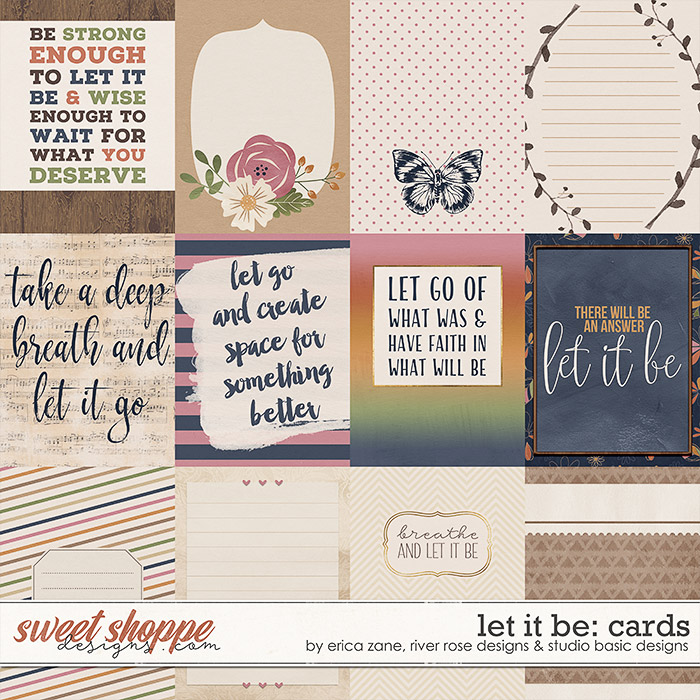 Let It Be Cards by Erica Zane, River~Rose and Studio Basic