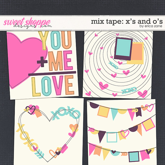 Mix Tape: X's and O's Templates by Erica Zane