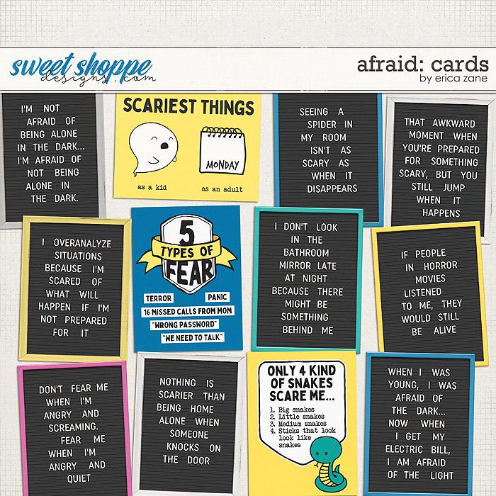 Afraid: Cards by Erica Zane