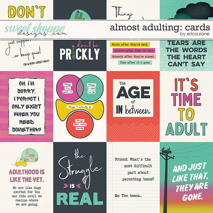 Almost Adulting: Cards by Erica Zane