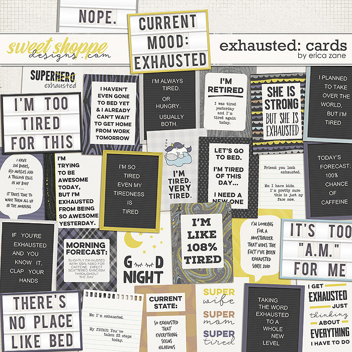 Exhausted: Cards by Erica Zane