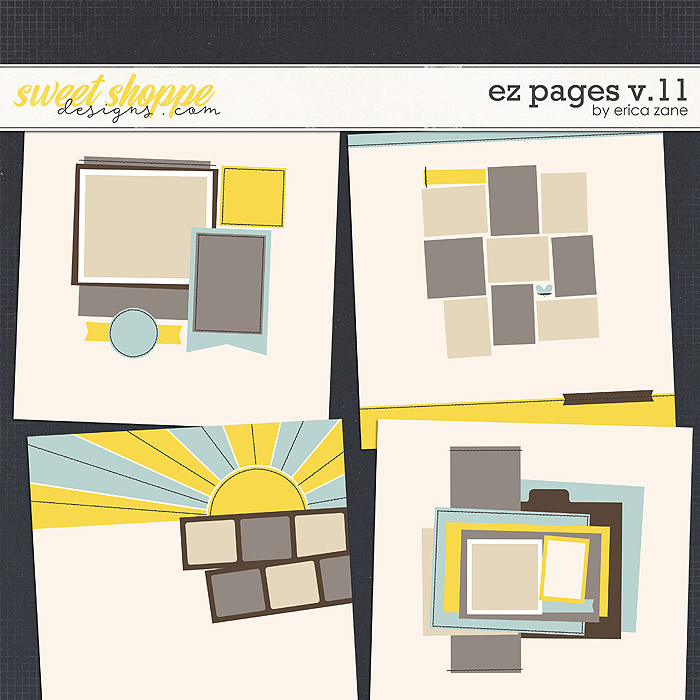 EZ Pages v.11 Templates by Erica Zane