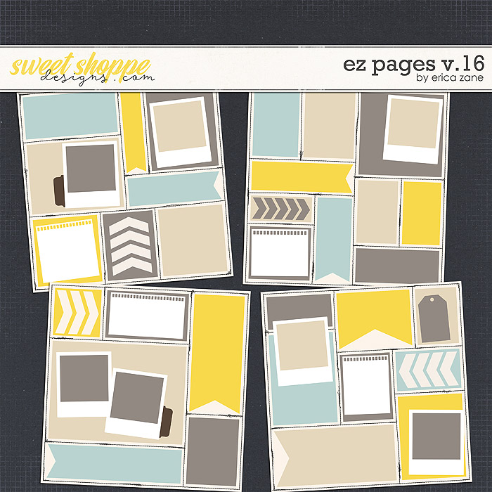 EZ Pages v.16 Templates by Erica Zane
