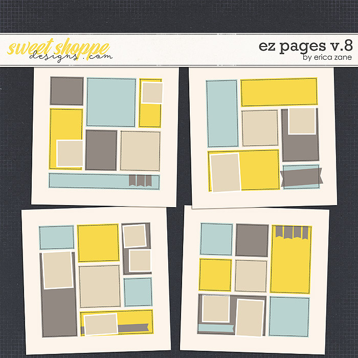 EZ Pages v.8 Templates by Erica Zane