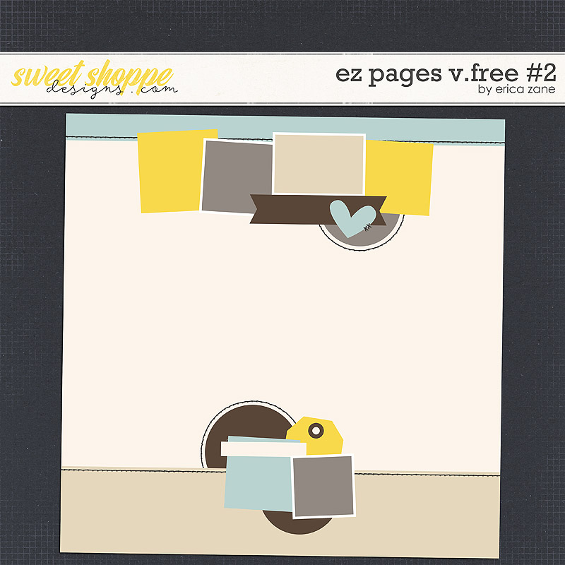 EZ Pages v.FREE #2 Template by Erica Zane