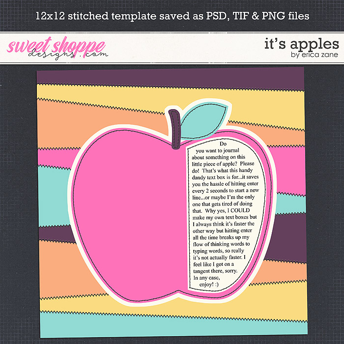 It's Apples Template by Erica Zane