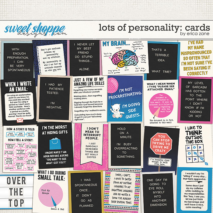 Lots of Personality: Cards by Erica Zane