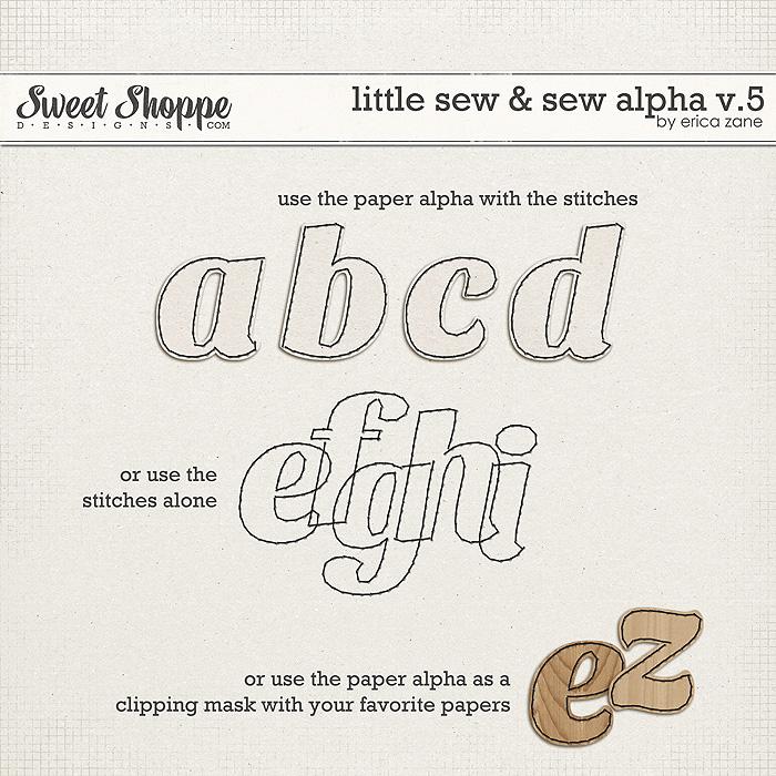 Little Sew & Sew Alpha v.5 by Erica Zane