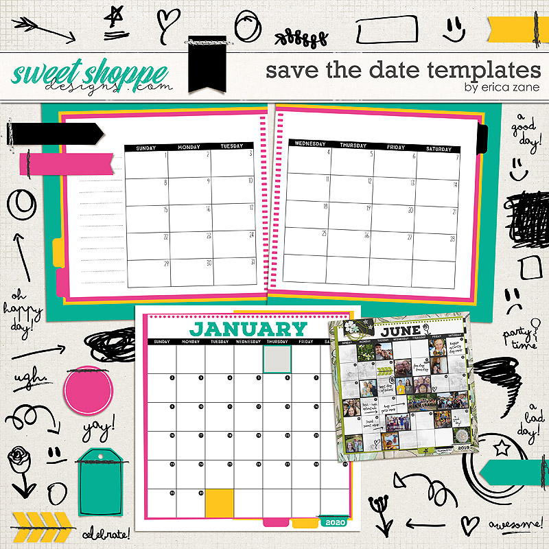 Save the Date Templates by Erica Zane