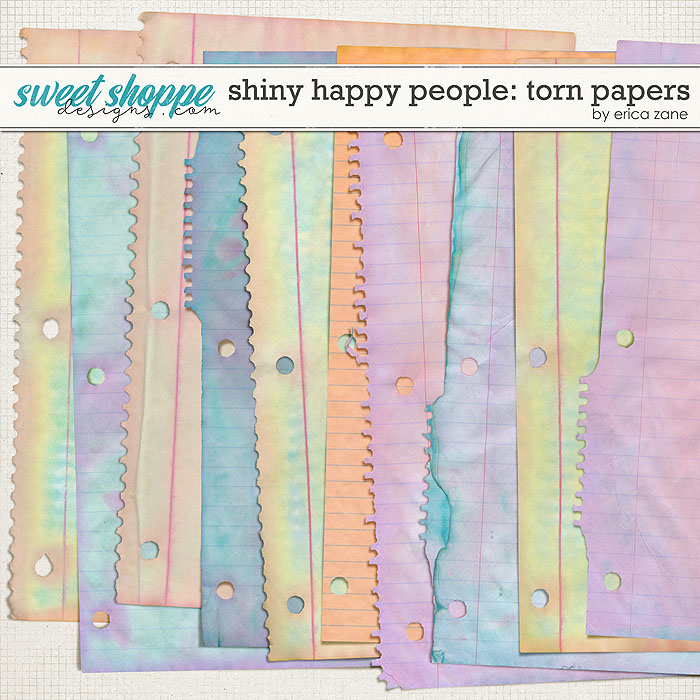 Shiny Happy People: Torn Papers by Erica Zane