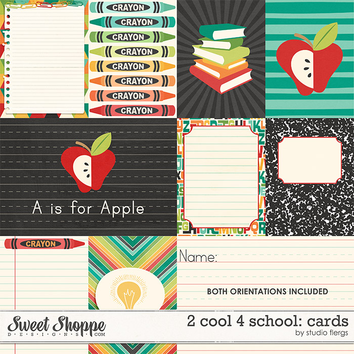 2 cool 4 school: CARDS by Studio Flergs