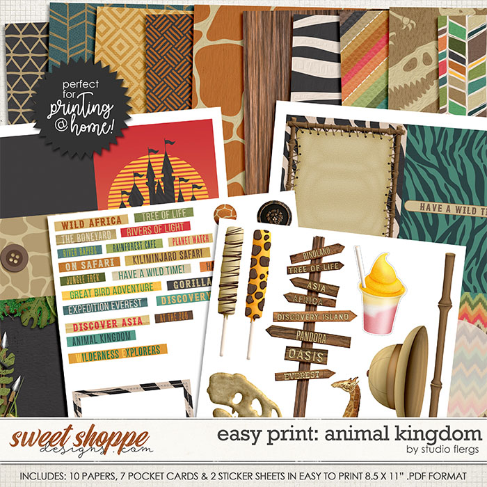 Remember the Magic: ANIMAL KINGDOM - EZ PRINT by Studio Flergs