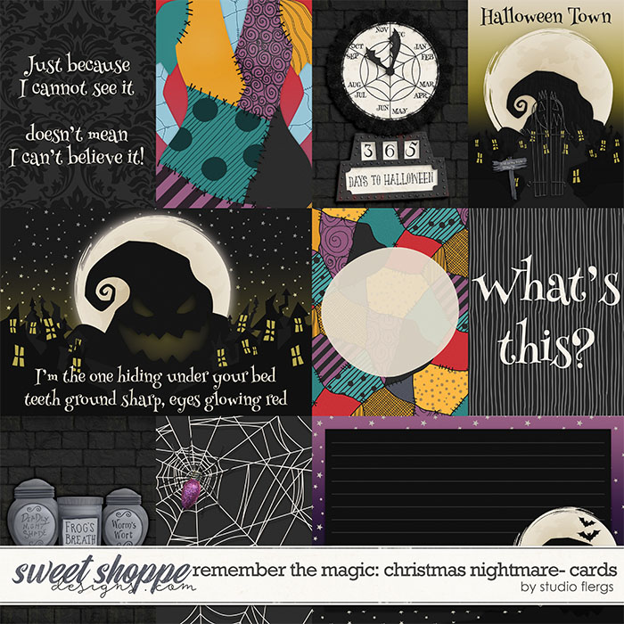 Remember the Magic: CHRISTMAS NIGHTMARE- CARDS by Studio Flergs