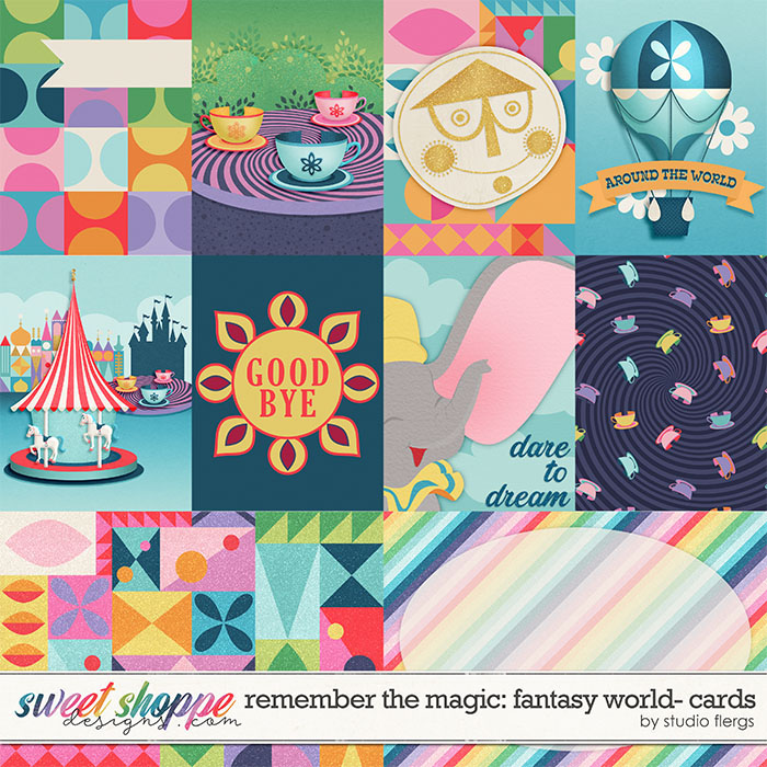 Remember the Magic: FANTASY WORLD- CARDS by Studio Flergs