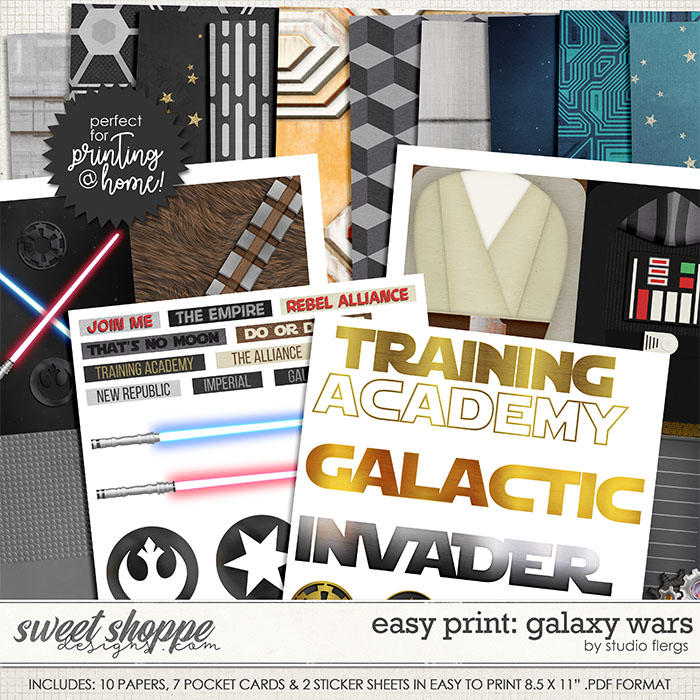 Remember the Magic: GALAXY WARS- EZ PRINT by Studio Flergs