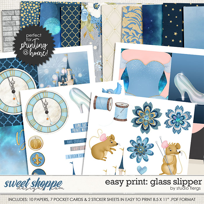Remember the Magic: GLASS SLIPPER- EZ PRINT by Studio Flergs