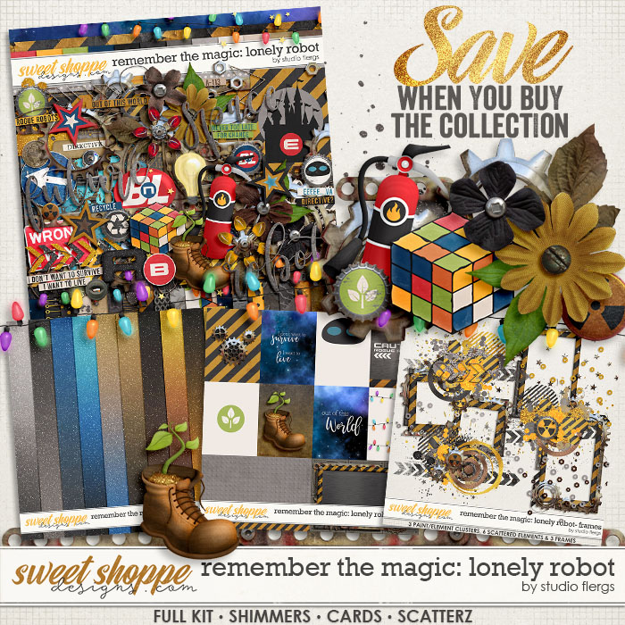 Remember the Magic: LONELY ROBOT- COLLECTION & *FWP* by Studio Flergs