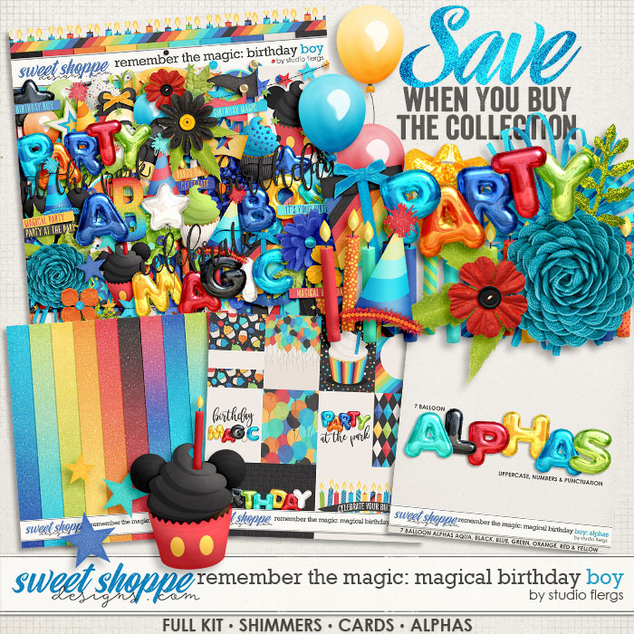 Remember the Magic: MAGICAL BIRTHDAY BOY- COLLECTION & *FWP* by Studio Flergs