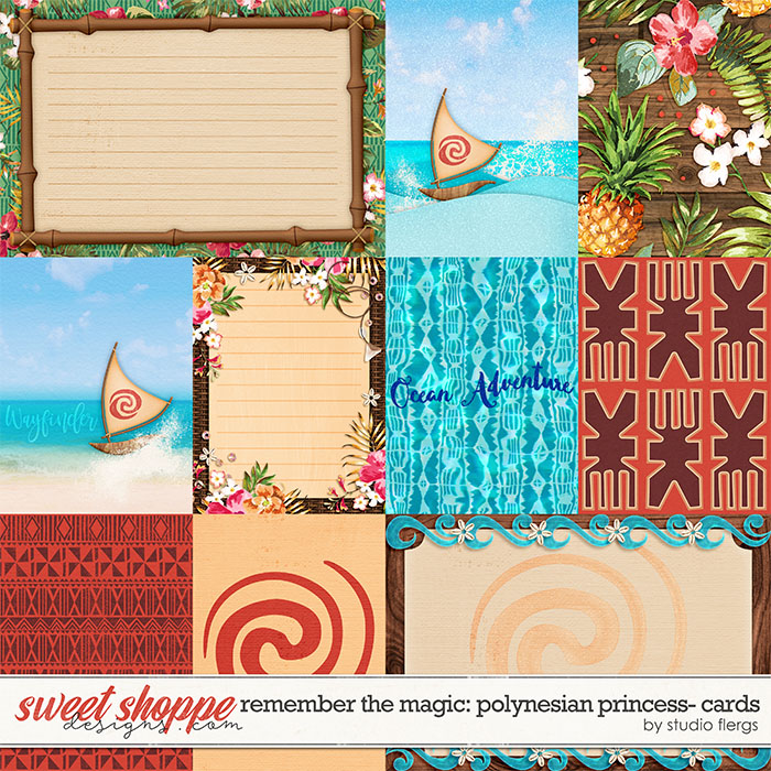 Remember the Magic: POLYNESIAN PRINCESS- CARDS by Studio Flergs