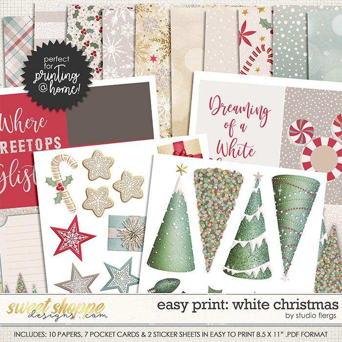 Remember the Magic: WHITE CHRISTMAS-EZ PRINT by Studio Flergs