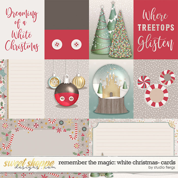 Remember the Magic: WHITE CHRISTMAS- CARDS by Studio Flergs