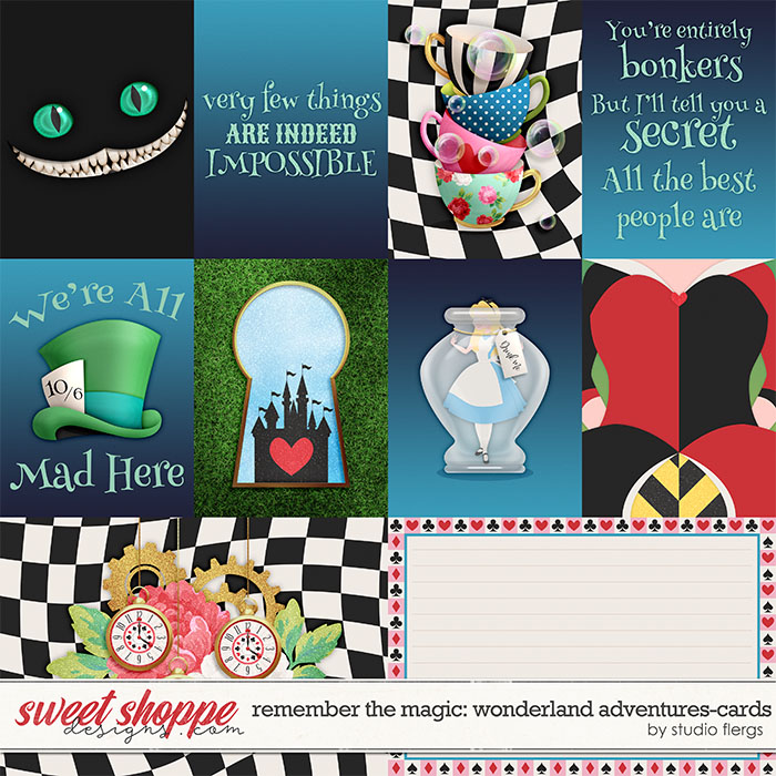 Remember the Magic: WONDERLAND ADVENTURES- CARDS by Studio Flergs