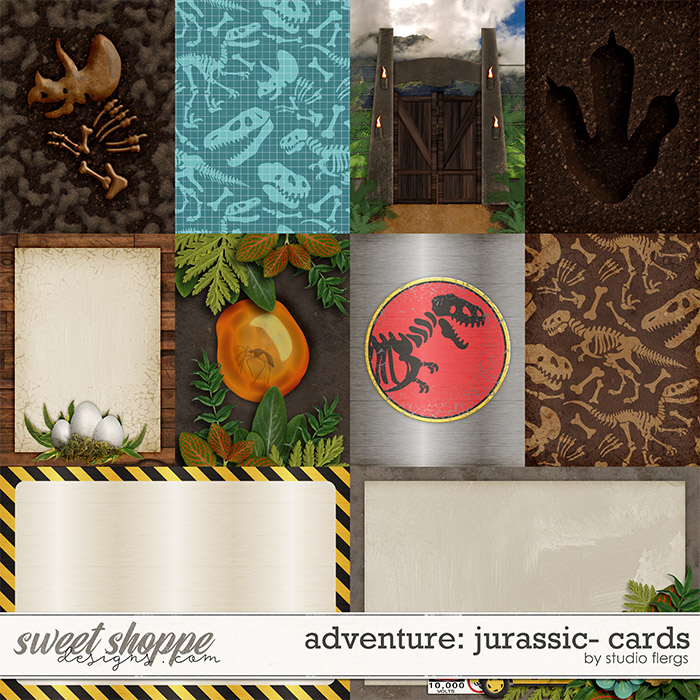 Adventure: Jurassic- CARDS by Studio Flergs