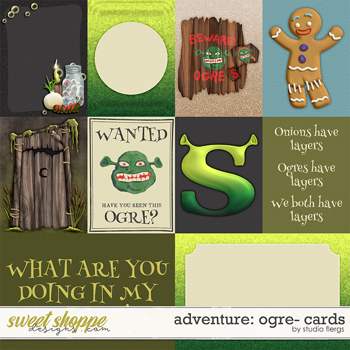 Adventure: Ogre- CARDS by Studio Flergs