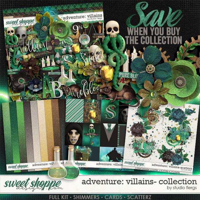 Adventure: Villains- COLLECTION & *FWP* by Studio Flergs