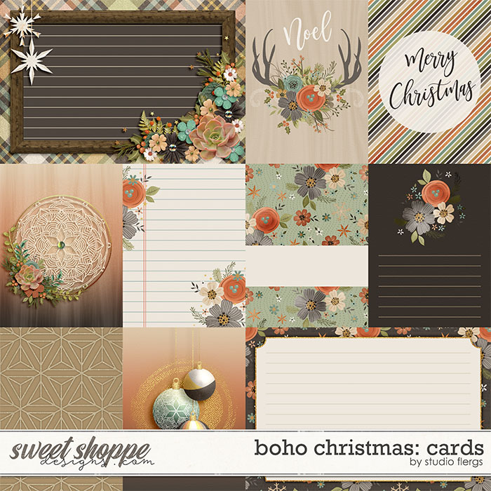 Boho Christmas: CARDS by Studio Flergs