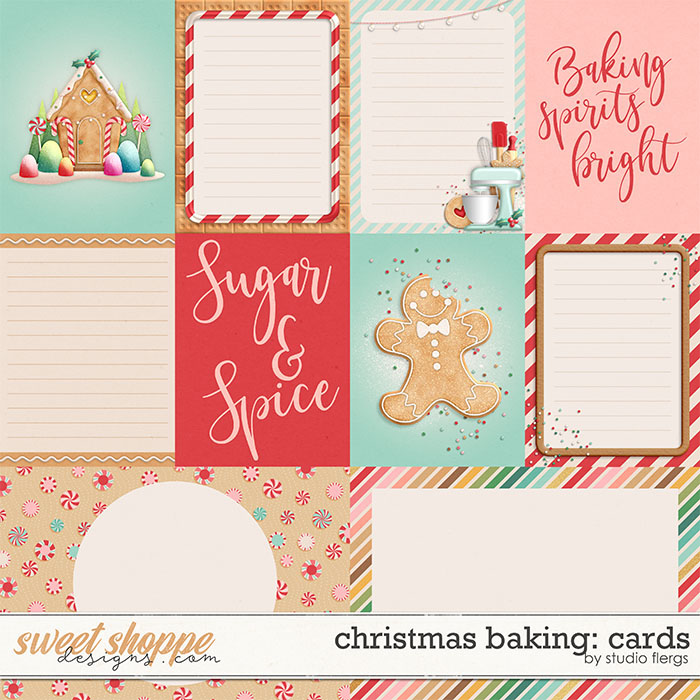Christmas Baking: CARDS by Studio Flergs