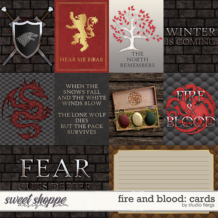 Fire & Blood: CARDS by Studio Flergs