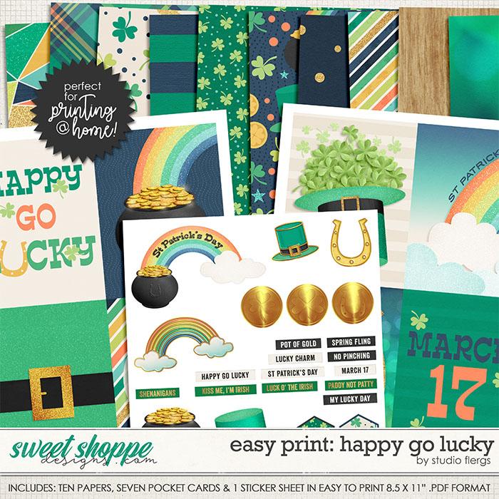 Happy Go Lucky: EZ PRINT by Studio Flergs
