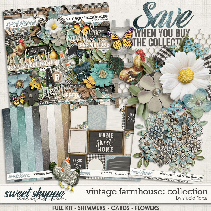 Vintage Farmhouse: COLLECTION & *FWP* by Studio Flergs