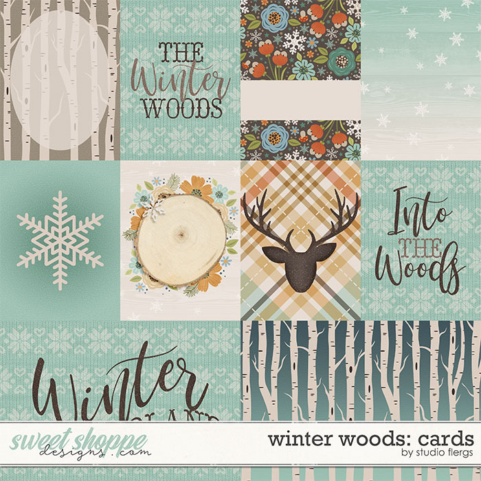 Winter Woods: CARDS by Studio Flergs