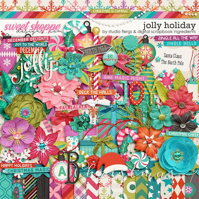 Jolly Holiday by Studio Flergs & Digital Scrapbook Ingredients
