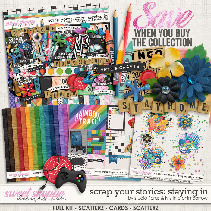 Scrap Your Stories: Staying In- COLLECTION by Studio Flergs & Kristin Cronin-Barrow