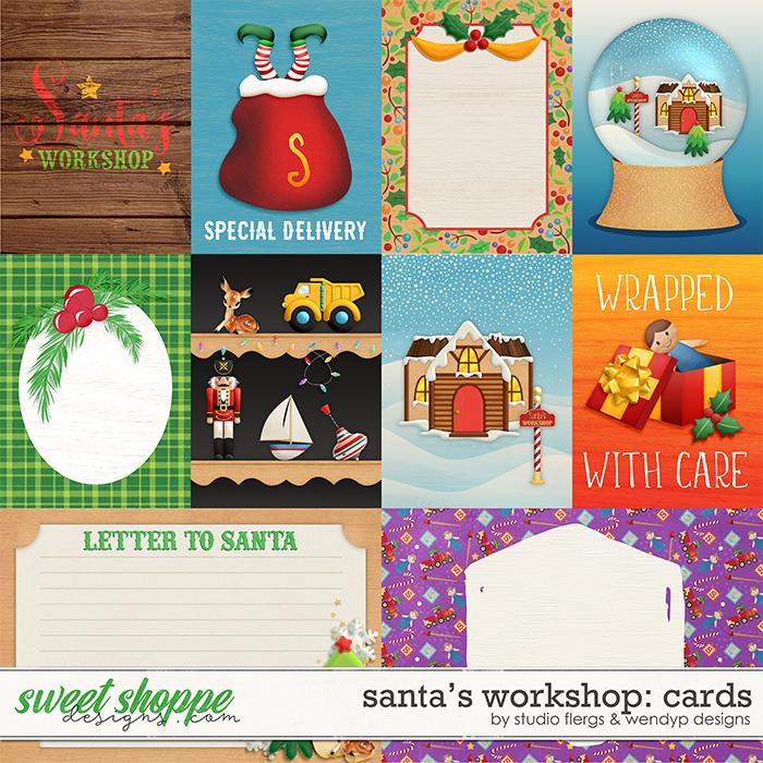 Santa's workshop - cards by Studio Flergs & WendyP Designs