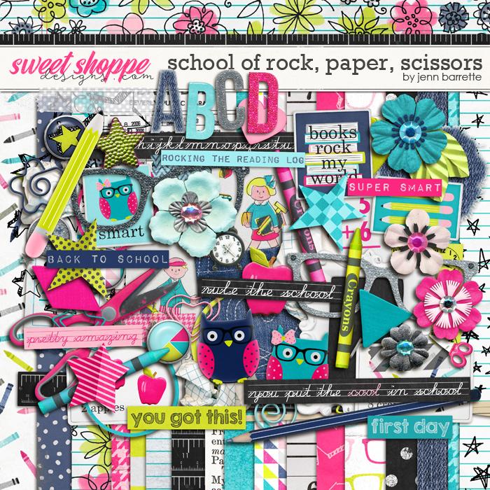 School of Rock, Paper, Scissors: Page Kit by Jenn Barrette