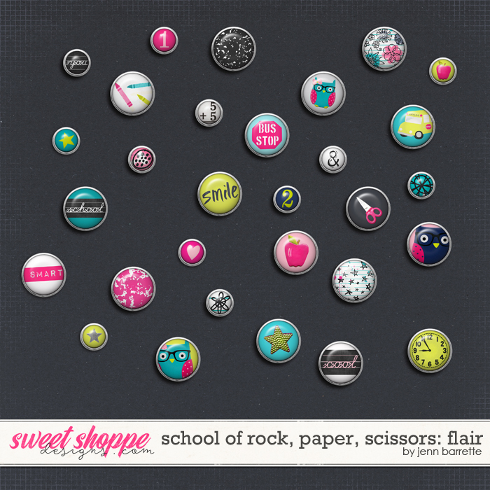 School of Rock, Paper, Scissors: Flair by Jenn Barrette