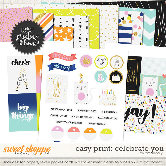 Easy Print: Celebrate You by Amanda Yi